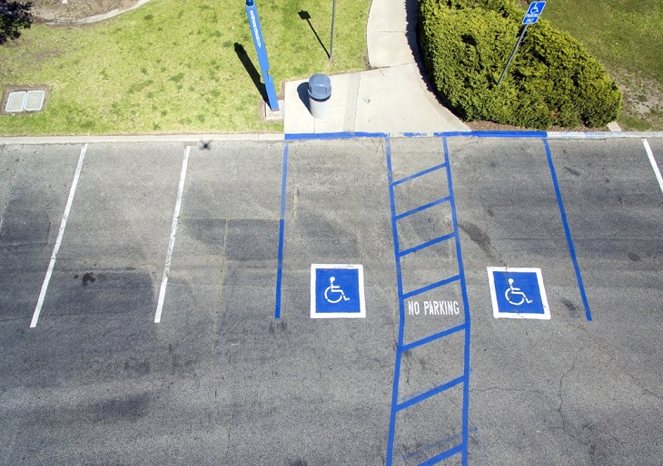 Dr. Handicap - handicap parking lot view