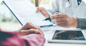 Dr. evaluates your medical record online