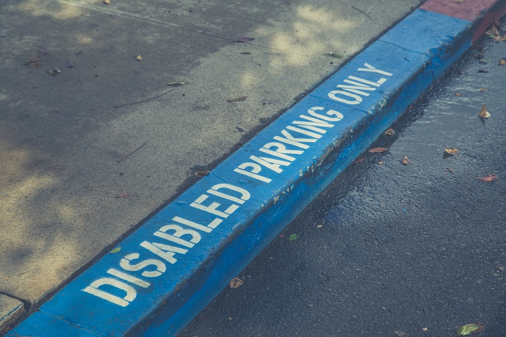 Dr Handicap - disabled parking kerb sign
