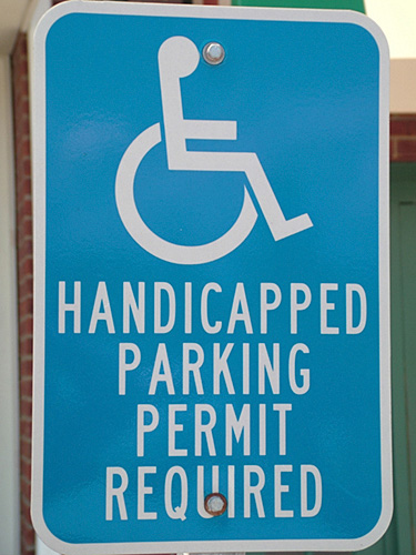 Dr Handicap - parking sign